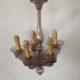 Art. LL12 - Antico lampadario in vetro di Murano Rosa ultimo quarto 800'