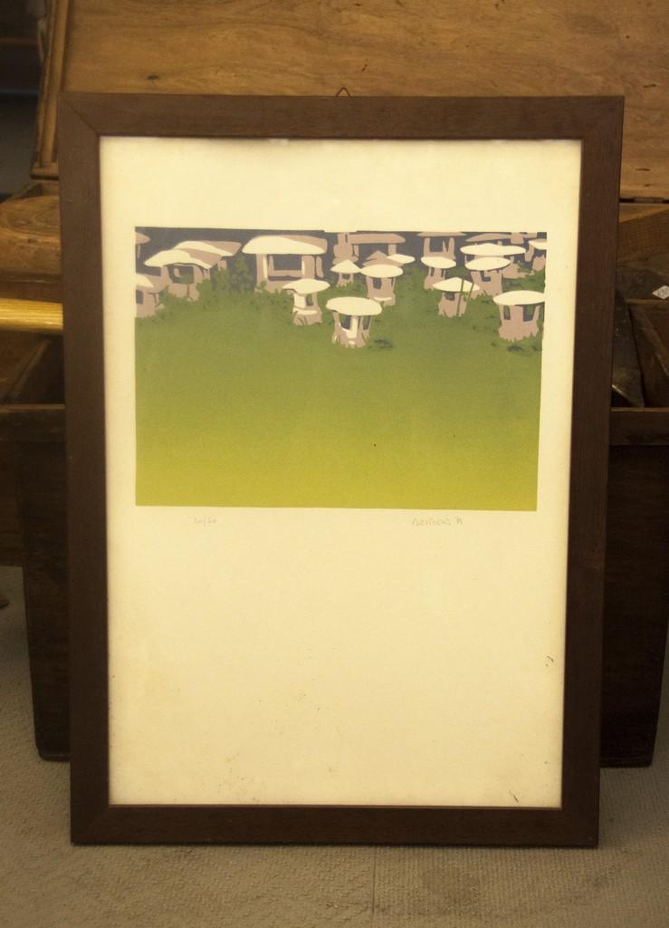 Art. PIT 8 - Guglielmo Meltzeid Serigrafia a 3 colori, 1979 numerata 20 su 50, misura 37x52
