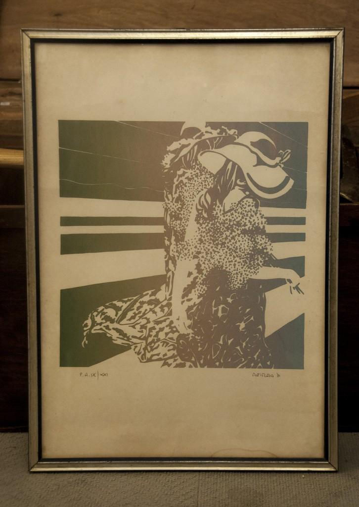 Art. PIT 9 - Guglielmo Meltzeid Serigrafia della serie primavera 1977 prova d'autore 9 su 21 37x52