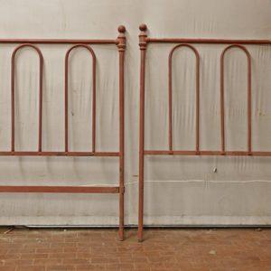 Art.FE.5 - Diciotto testate in ferro battuto per lettini singoli, provenienti da conservatori femminili di Siena- Metà 800'