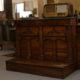 Art.MIS.2 - Inginocchiatoio Impero in legno di noce, Toscana inizi 800, 2 cassetti e 3 vani apribili. Misure: 118 x 57 x h 92 cm.