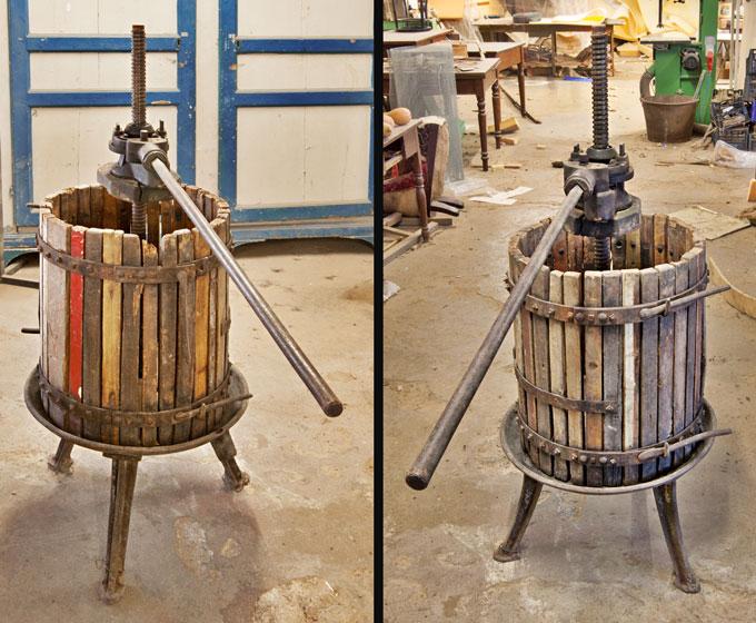 Art.MMA.8 - Antico Torchio in legno e ferro battuto. Toscana, '800