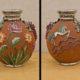 Art.VEC.5 - Vaso art decò in terracotta smaltata, argentata, dipinta e lavorata a crudo. Manifattura MICA Manifattura Italiana Ceramiche Artistiche, creata nel 1928 da maestranze ex Ginori